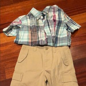 Brand new polo shorts and gently used polo shirt